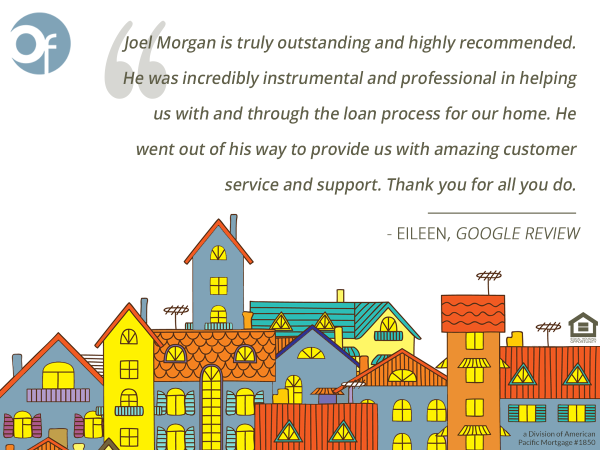 Joel Morgan is truly outstanding and highly recommended. He was incredibly instrumental and professional in helping us with and through the loan process for our home. He went out of his way to provide us with amazing customer service and support. Thank you for all you do.